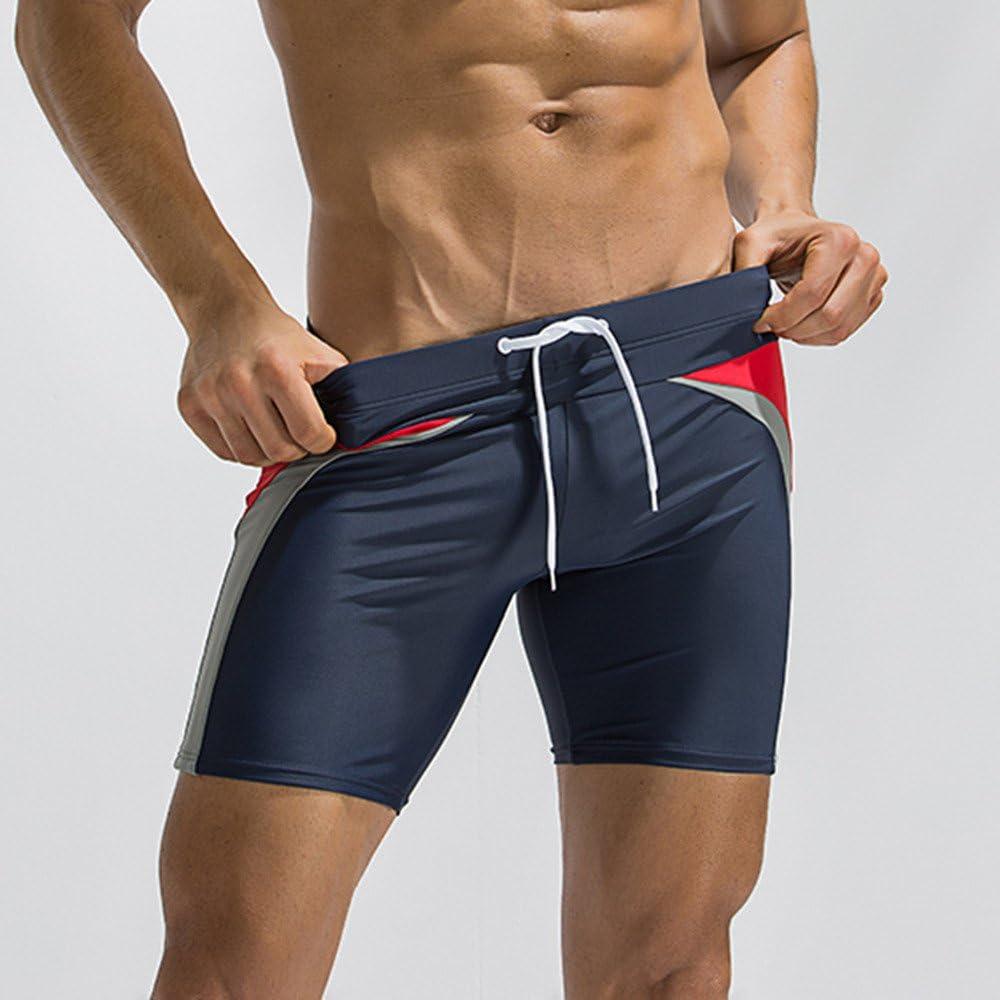 DOGZI Ba/ñadores Hombre Natacion Verano Playa Pantalones Cortos Fitness Culturismo Transpirable Trunks Rutina de Ejercicio Gym Entrenamiento Ba/ñadores Deportes Aire Libre Boxers