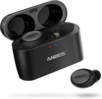 Anbes Bluetooth 5.0 Wireless Earbuds with Portable Charging Case