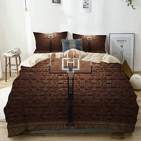 KASMILN Bedding Juego Funda Edredón,Baloncesto Old Brick ...