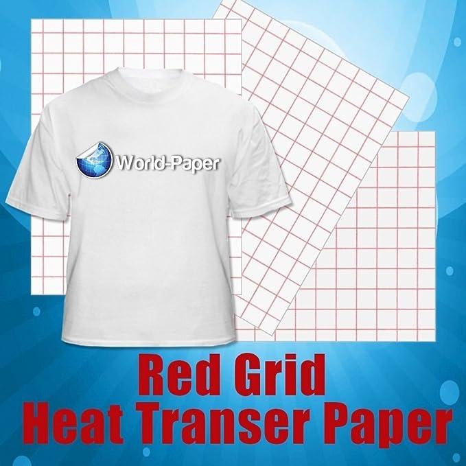Rojo rejilla de inyección de tinta papel de transferencia de calor ...