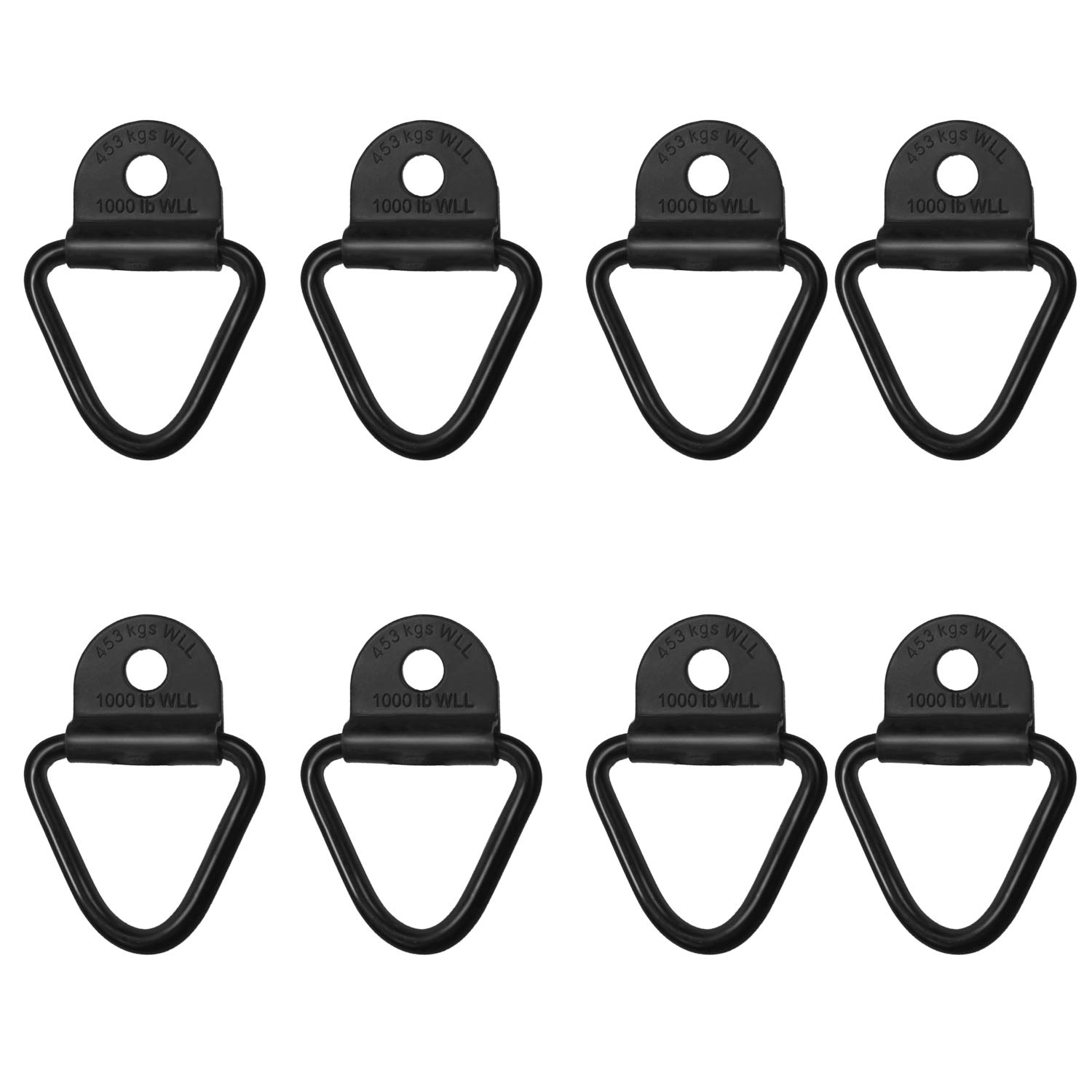 Sporthfish Cargo Tie-Down Anchors,4-Pack Black Steel V-Ring Bolton Trailer Cargo Tie Down,for Trailers,Trucks and Warehouses Replacement for D-Ring Plastic Flush Mount Pan Fitting Tie Down