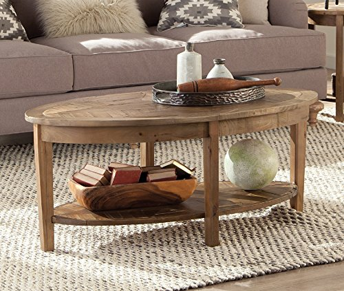 Alaterre Renew Reclaimed Oval Coffee Table Natural