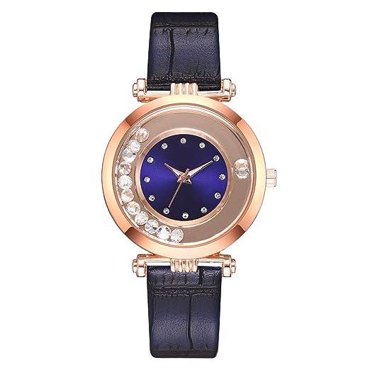 VEHOME Reloj para Mujer Temperament - Reloj de Cuarzo analógico - Correa de Cuero-Relojes Cuarzo relojero Reloj reloje hombresRelojes de Pulsera Marcas ...