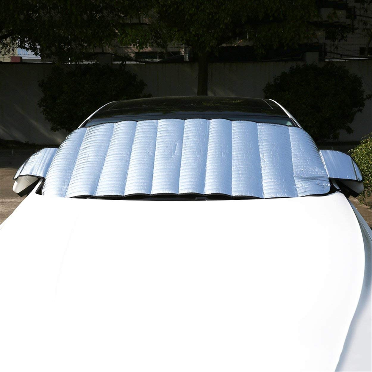 Tree-on-Life Practical Car Windscreen Cover Anti Ice Snow Frost Shield Dust Protection Heat Sun Shade Ideally for Front Car Windshield