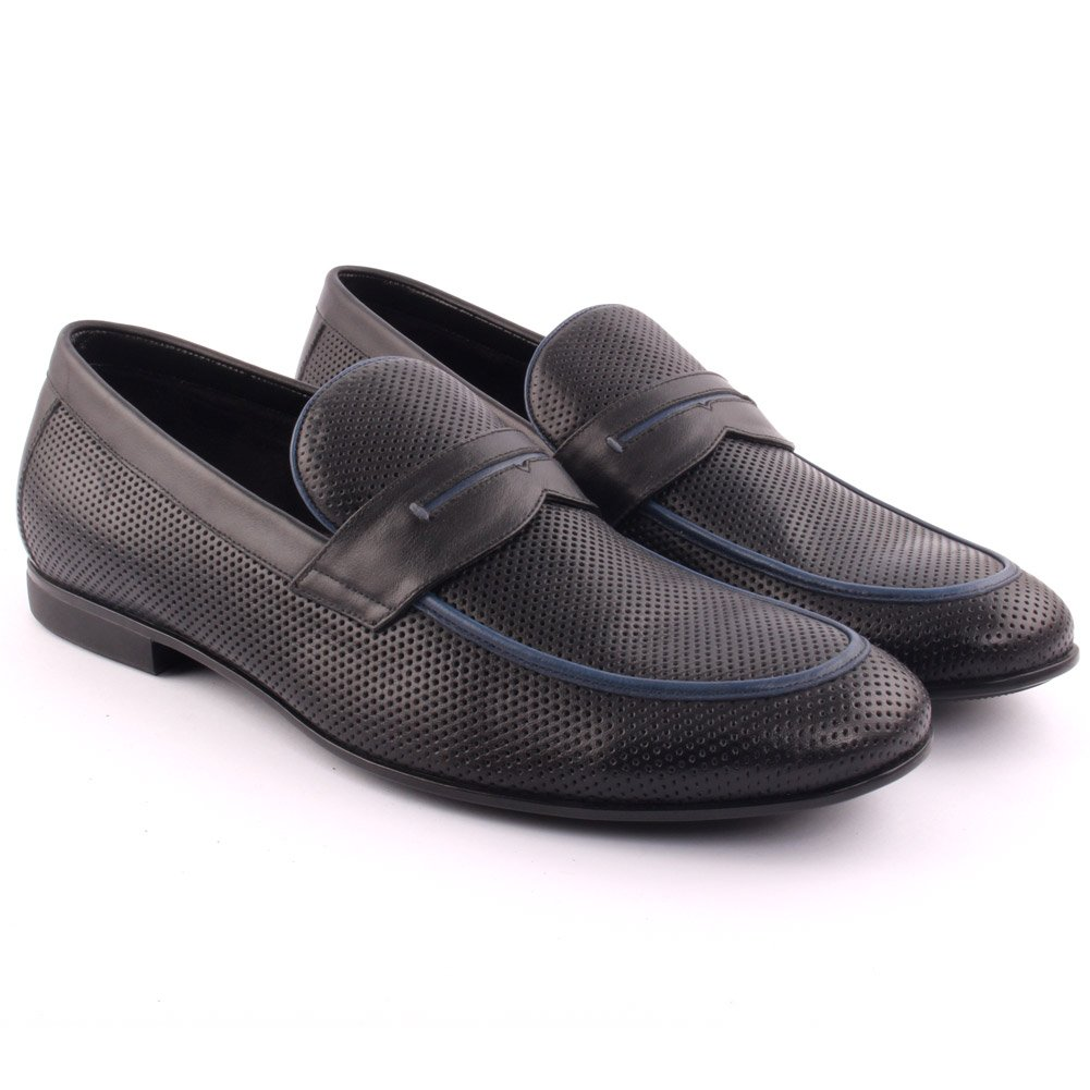 Unze Men's 'Telldin' Leather Dress Slip-ONS Formal Prom Wedding Party Office Oxfords UK Size 7-11 - A015-5-1 by Unze London (Image #2)