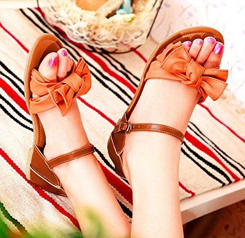 34 Patchwork Neue Flats Orange Größe 42 2015 Flops sommer sandalen sandelholze Flip Plattform Frauen Sandalen Ladies Designer F88q6xHw