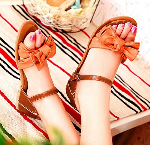 42 Flip Plattform 2015 sommer Neue Frauen Flats sandelholze Flops Patchwork 34 Ladies Größe Designer Orange Sandalen sandalen PwZ4fYP