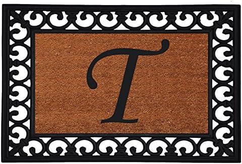 Calloway Mills 180041925T Monogram Insert Doormat 19 x 25 Letter T