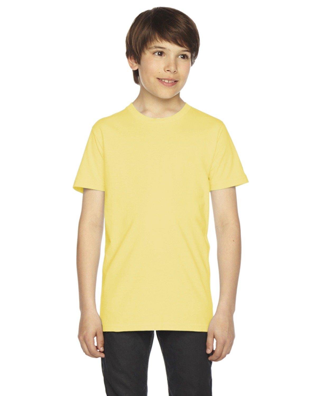 American Apparel Boys Fine Jersey Short-Sleeve T-Shirt (2201) -LEMON -10