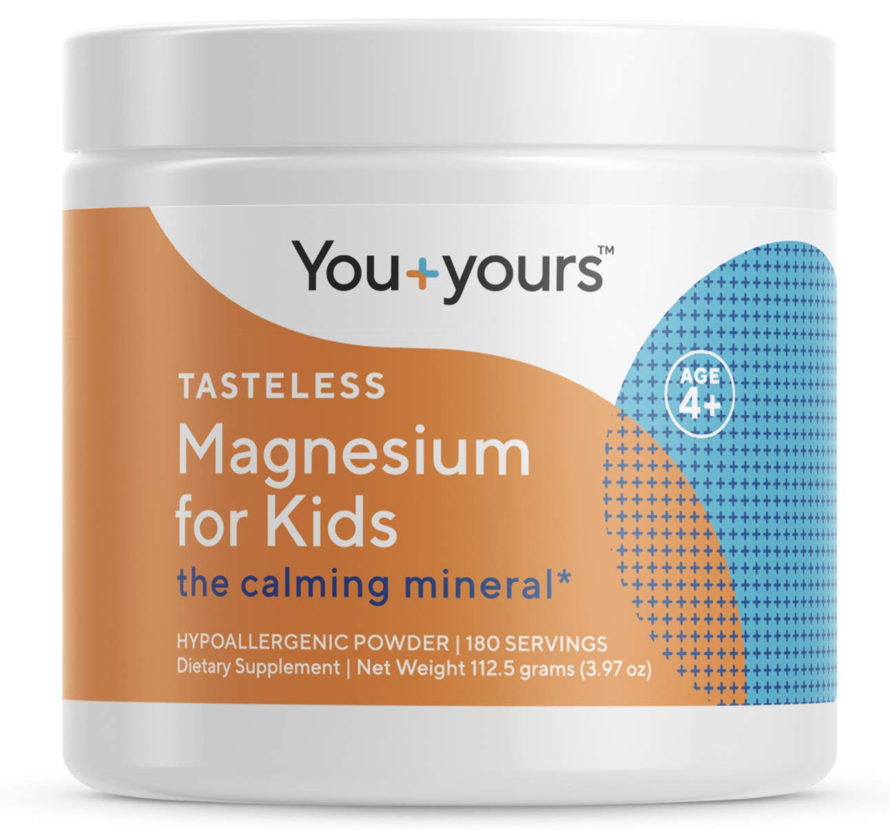Tasteless, Calming Magnesium for Kids- 3 Month Supply- Vegan, Non-GMO, Hypoallergenic, Third-Party Tested for Purity and Potency