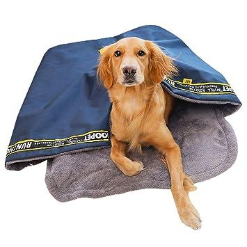 YUENA CARE Saco de Dormir para Perro de Tamaño Grande - Cama para Mascotas Cálido Cómodo para Invierno contra Viento y Lluvia Práctico para Viaje L: ...