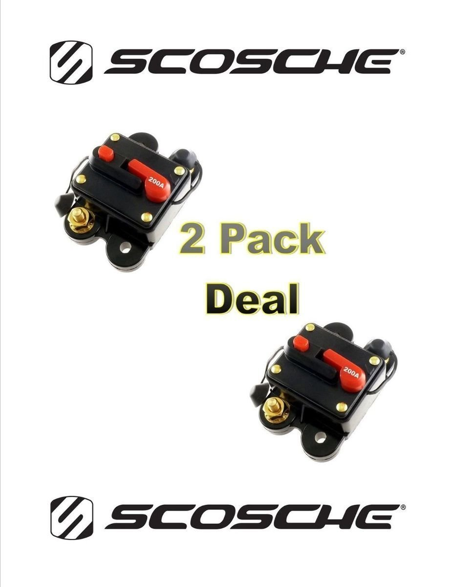 200 Amp 12v Dc Circuit Breaker Replace Fuse 200a 12vdc Details About 200amp Scosche 2 Pack Everything Else