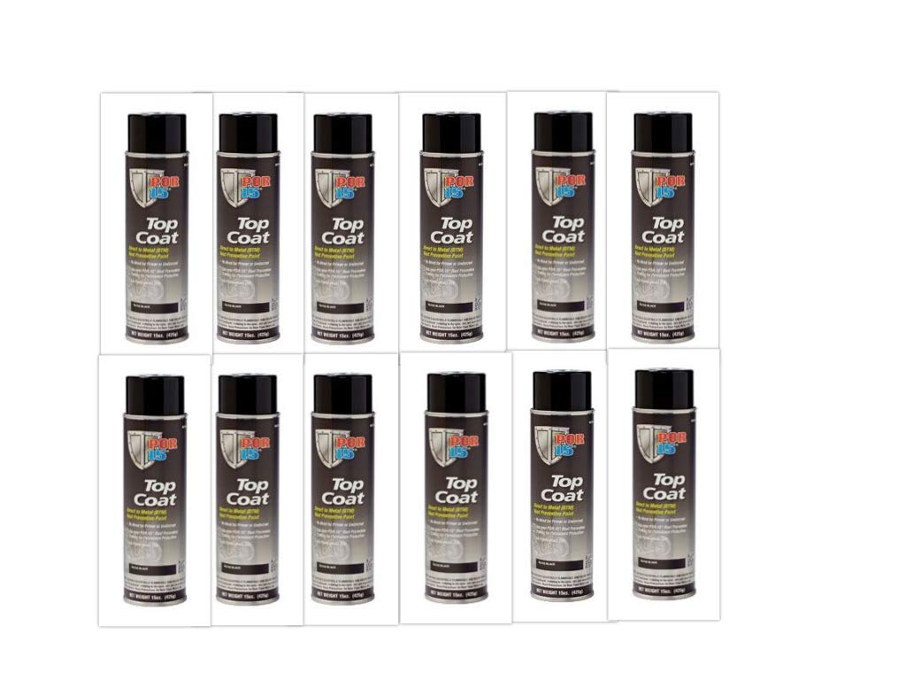 Por-15 Direct to Metal Top Coat Chassis Paint 12-14oz Spray Cans