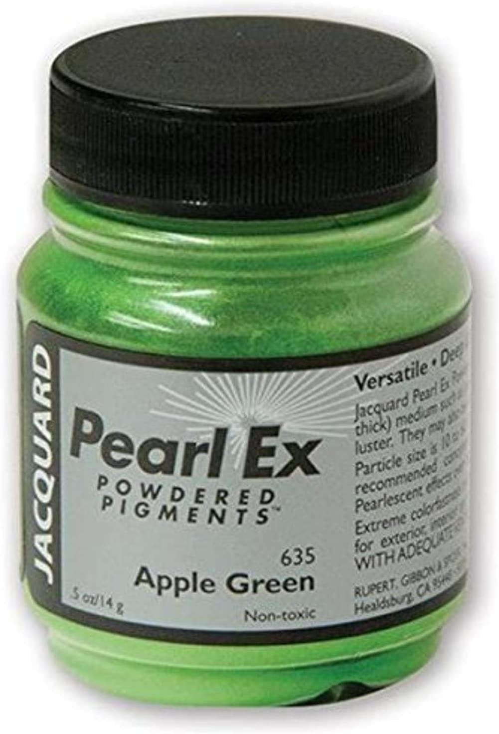 Jacquard Products Pearl Ex Powdered Pigments, 14g, Apple Green