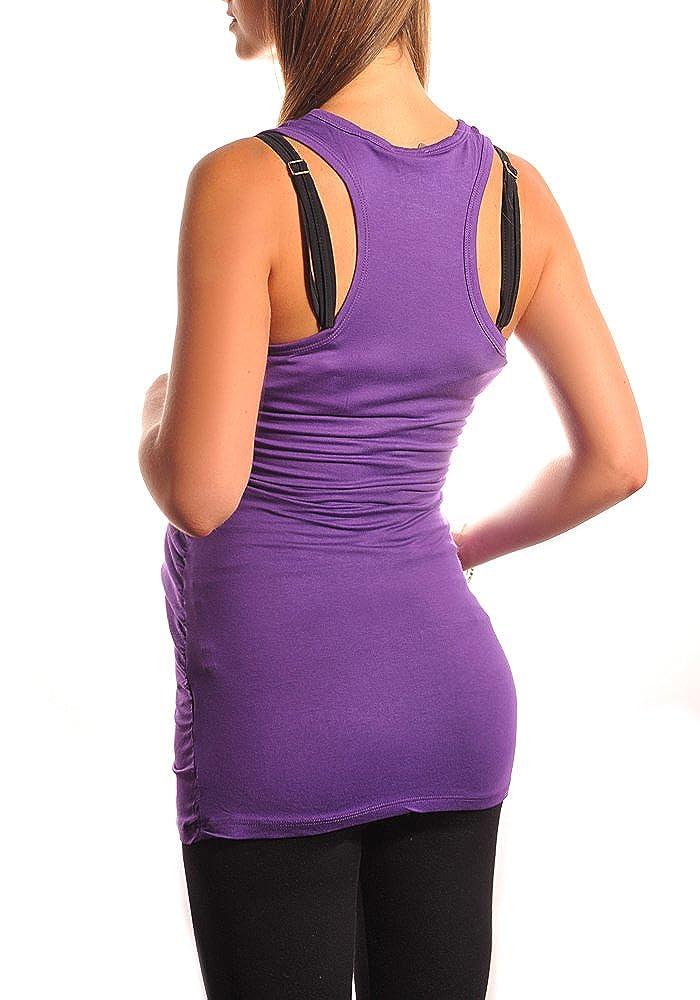 Purpless Maternity Pregnancy Tank Top Sleeveless Tee Workout Shirt Women 5071