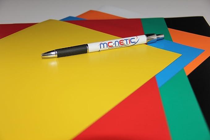 20 Stück Magnetfolie DIN A4 Magnetband Grün PVC-beschichtet Matt bedruckbar