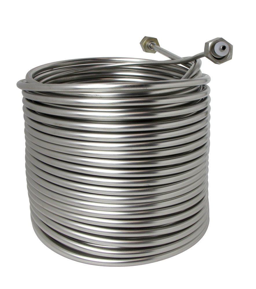 Jockey Box Stainless Steel Cooling Coil, Right Hand, 120' x 3/8'' O.D.