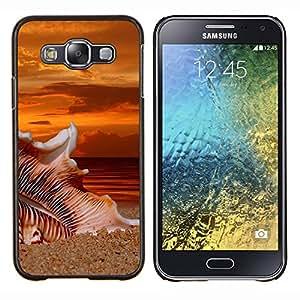 TECHCASE---Cubierta de la caja de protección para la piel dura ** Samsung Galaxy E5 E500 ** --Beach Sunset Sand