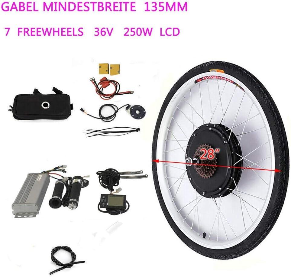 WUPYI2018 Kit de conversión para bicicleta eléctrica, 36 V, 250 W ...