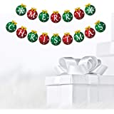 Merry Christmas Banner, shinfly Christmas Banner Merry Christmas Sign for Christmas Decorations Indoors Party Supplies Christmas Party Letter Banner