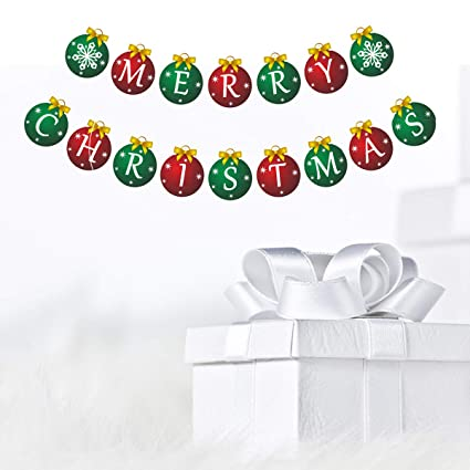 Merry Christmas Ornament Sign.Merry Christmas Banner Shinfly Christmas Banner Merry Christmas Sign For Christmas Decorations Indoors Party Supplies Christmas Party Letter Banner