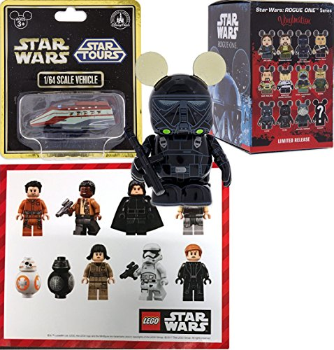 Star Wars Parks Exclusive Vinylmations Disney Figure Mystery Blind Box Rogue One Story Authentic & Star Tours Vehicle Die-Cast Ride + Bonus (Star Wars Series 1 Sticker)