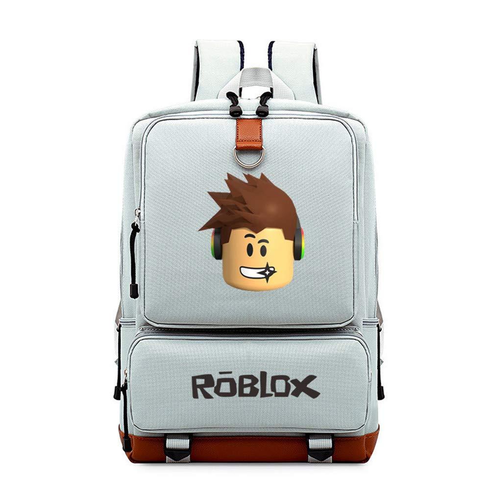 NINIUBAL Unisex Roblox Mochilas Escolares Juveniles Paquete de Asalto al Aire Libre Deporte Mochila para Ordenador Portátil
