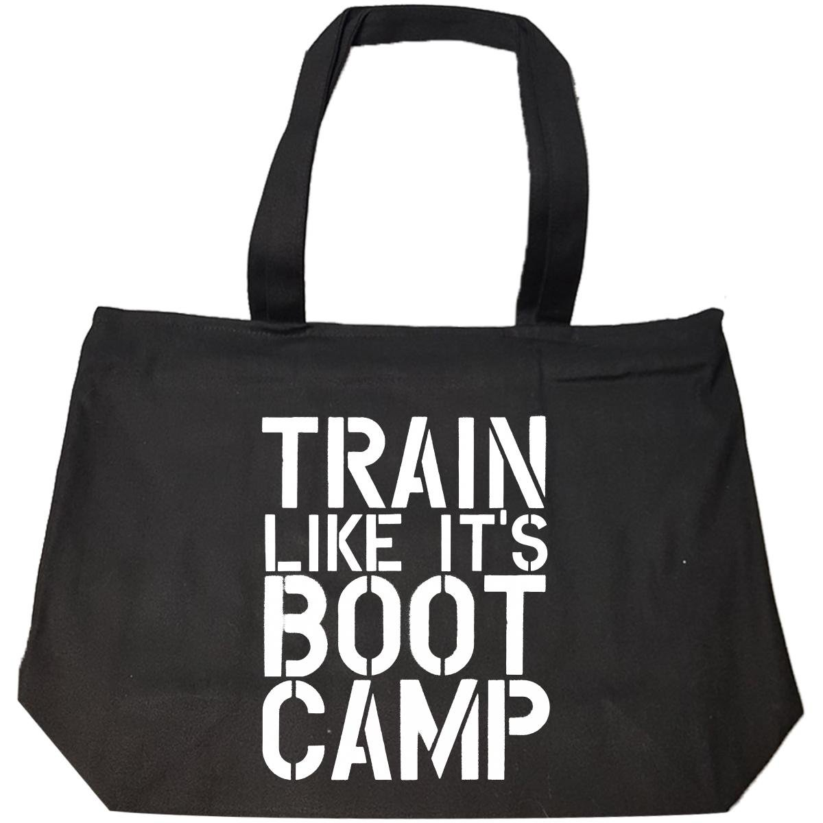 Train Like Its Bootcamp Workout Weight Lifting Squat Fitness - Tote Bag With Zip