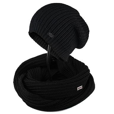 1d7902aa6cc FURTALK Women Girls Merino Wool Slouchy Knit Beanie Hat Scarf Set Soft  Winter Crochet Cap (