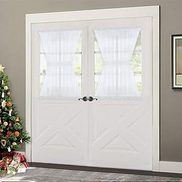 Amazoncom Nicetown Door Sheer Window Panels Front Door Curtains