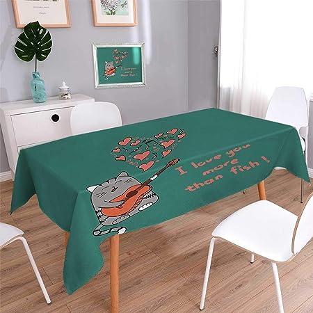 Anmaseven I Love You More Dinner - Mantel de Picnic con Dibujos de ...