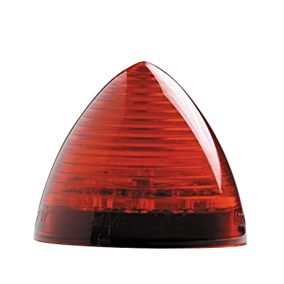 "Maxxima M09105R 9 LED Red 2"" Beehive Clearance Marker Light: Automotive"