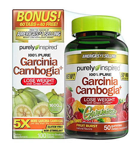 Purely Inspired Garcinia Gummies and Tablet Combo ( 100 ct Tabs + 50 ct Gummies)