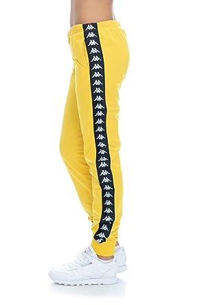 498625892a2a Kappa - Trousers - 222 Banda Wrastoria Slim Yellow Mustard Black   Amazon.co.uk  Clothing