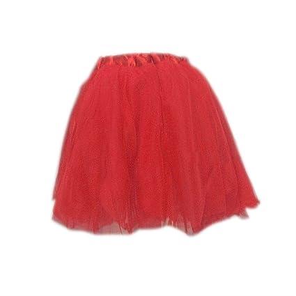 Gleader Tutu Falda de Ballet para Despedida de Soltera/Halloween para Chicas - Rojo