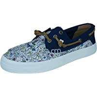 Sperry Crest Resort Mermaid Natural Womens Deck/Canvas Boat Shoes
