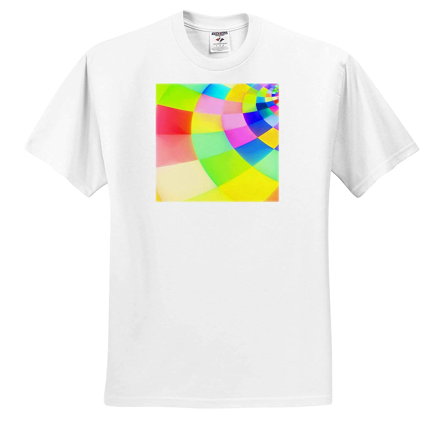 T-Shirts Colorful Color Square Spiral 3dRose RVig Generative Artworks