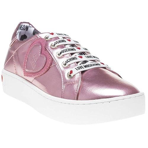 Love Moschino Heart Sneaker Mujer Zapatillas Rosa: Amazon.es: Zapatos y complementos