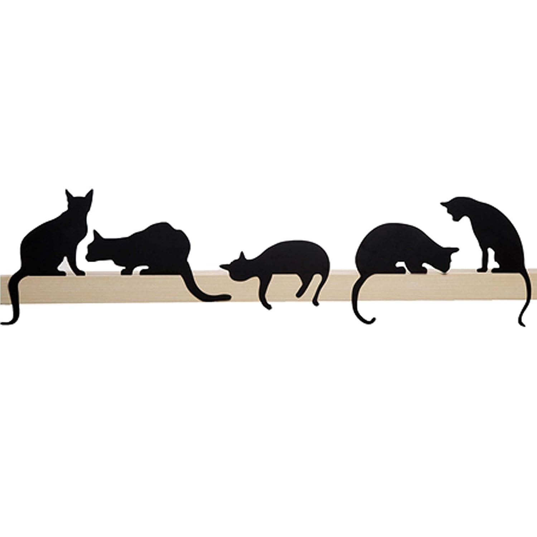 Artori Design Cat Shelf Decor | Cat's Meow | Decorative Metal Cats Silhouettes | Cat Figurine | Unique Gift for Cats Lover | Cats Art