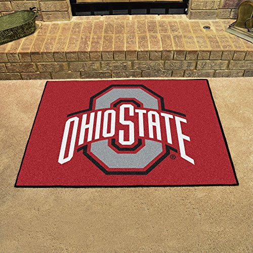 FANMATS NCAA Ohio State University Buckeyes Nylon Face All-Star Rug ()