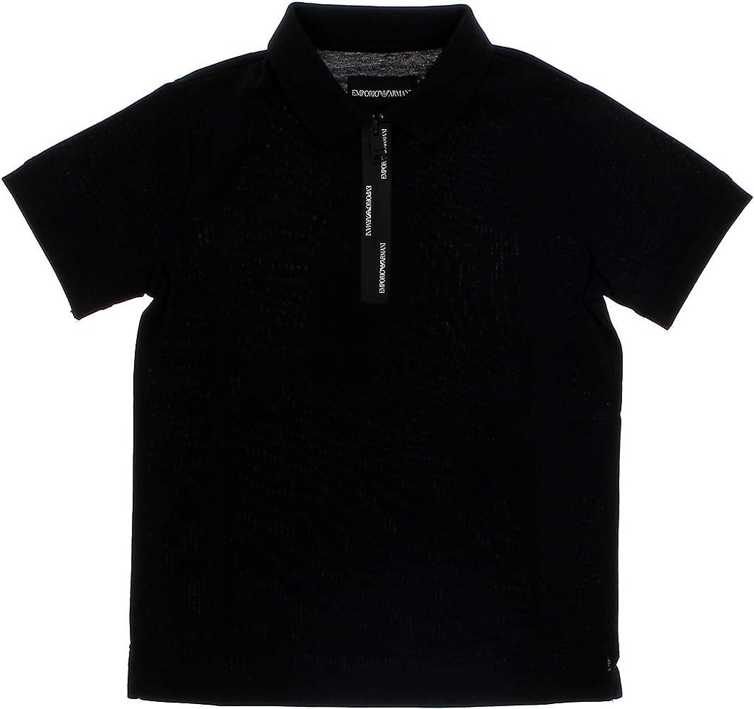 Emporio Armani Polo niño Mod. 3G4FJ2 Negro Negro 14 años: Amazon ...