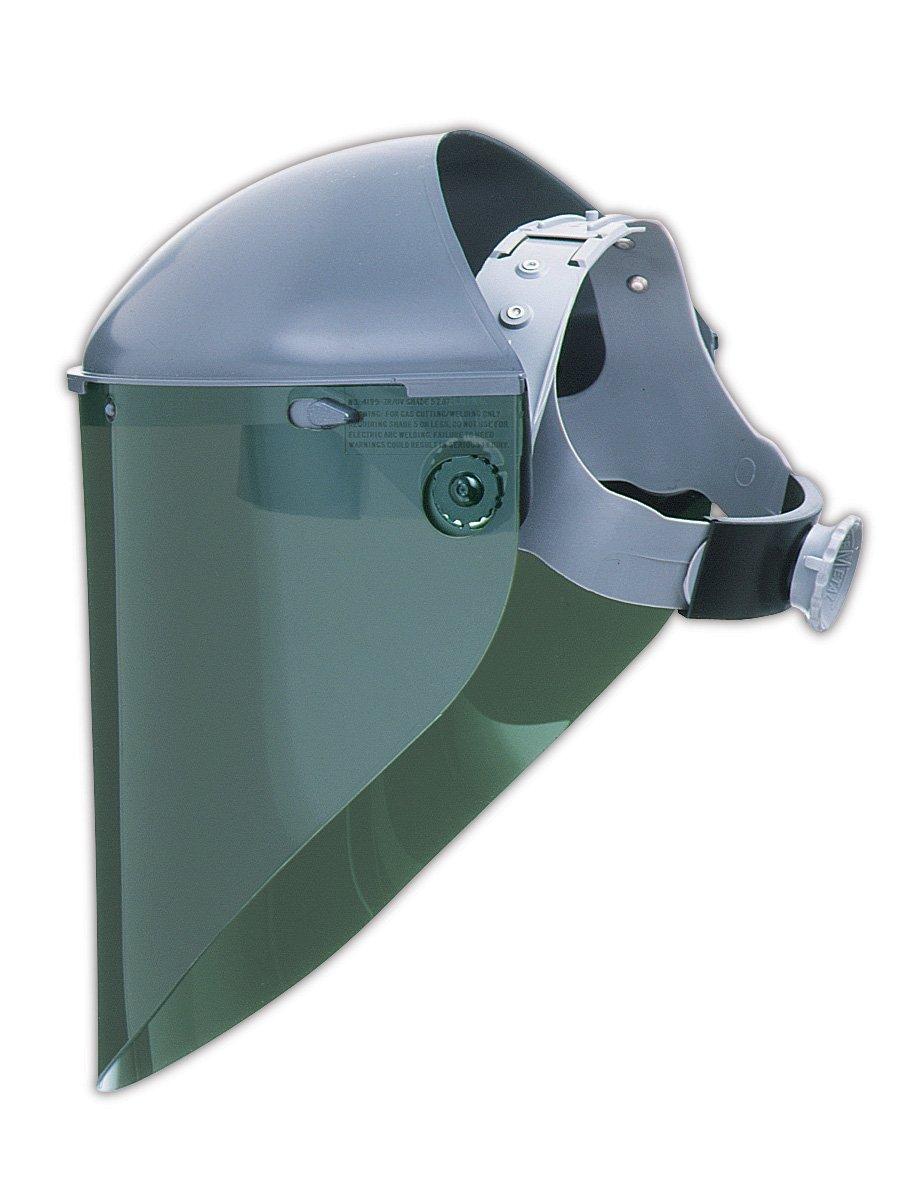 "Fibre-Metal Hard Hat 4199IRUV3 Extended View Faceshield Windows, 9.75 x 19"" x .06"", Dark Green"