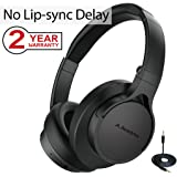 Avantree Super Comfortable Bluetooth Headphones Over Ear with Mic for TV PC Computer, No Audio Delay with Priva III, Audikast, Foldable Wireless Wired Headset for Gaming - HS063 [2-Year Warranty]