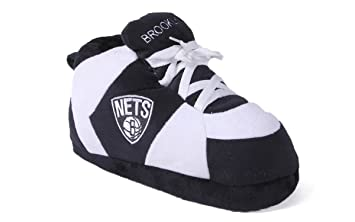 ce1ba9967a6041 Happy Feet Mens and Womens NBA Brooklyn Nets - Slippers - Small ...