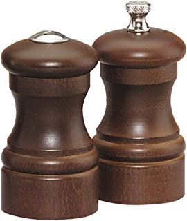 product image for Chef Specialties 4 Inch Capstan Pepper Mill and Salt Shaker Set - Walnut