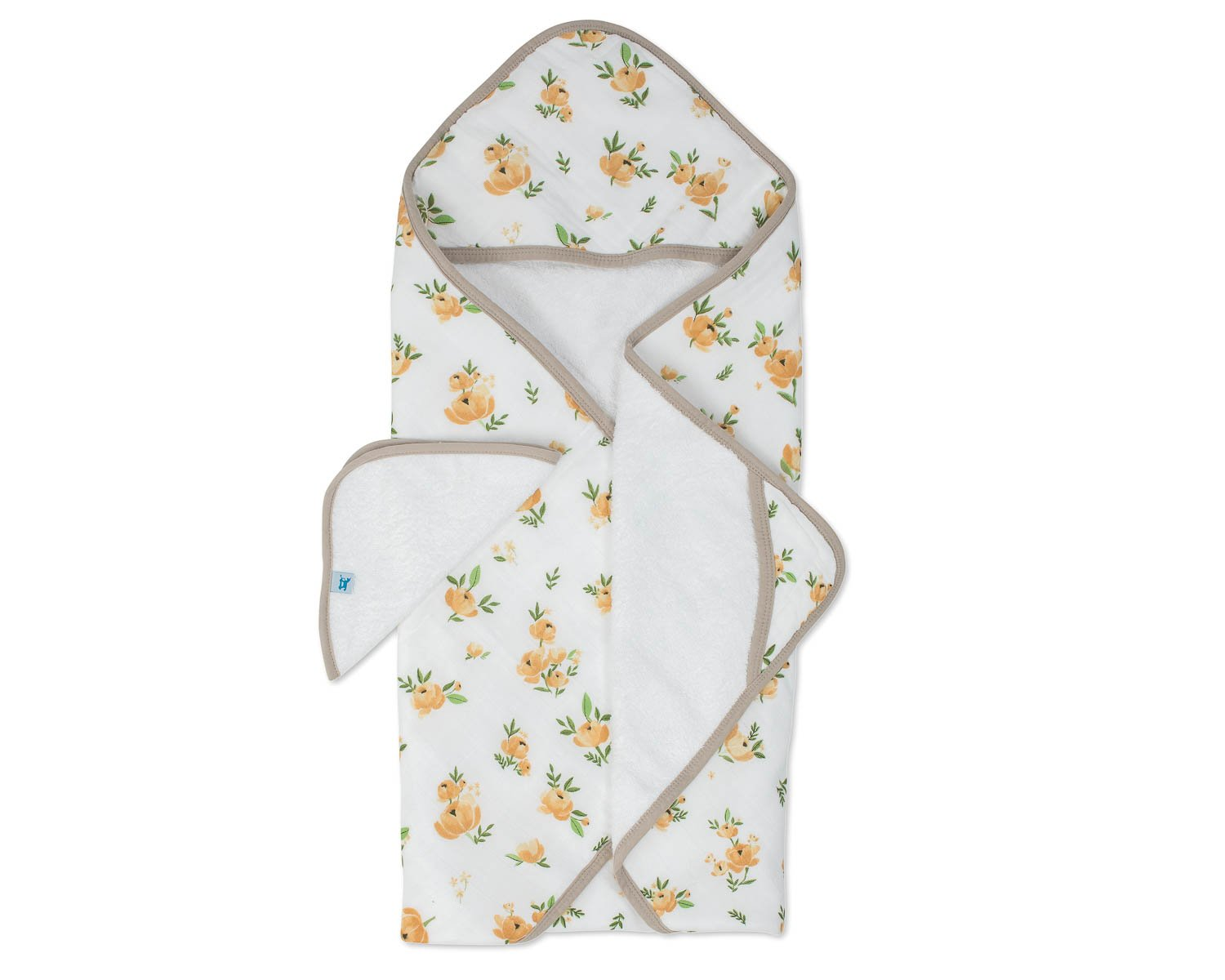 Little Unicorn Cotton Hooded Towel & Wash Cloth - Yellow Rose by Little Unicorn