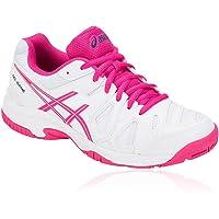 Asics Unisex Çocuk  Tenis Ayakkabısı, Beyaz/Pembe, 33-34 Numara