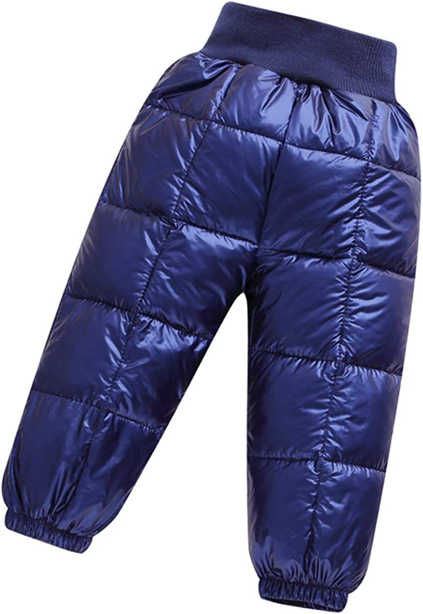 AceAcr Toddler Winter Snow Pants Windproof Puffer Lightweight Pants Elastic Trousers