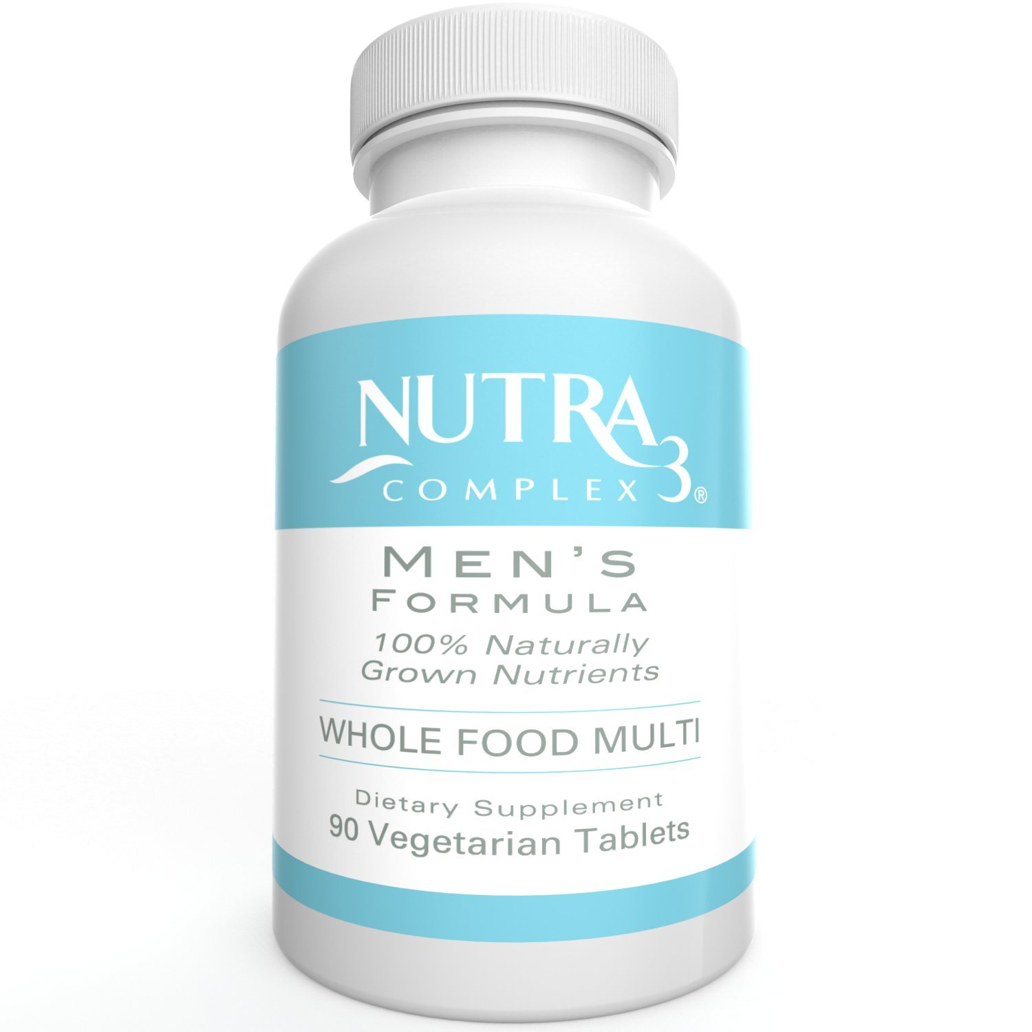 Wholefood Multivitamin for Men Naturally Grown Veggie Tablets Gluten Free Whole Food Multivitamin 90 Veggie Tablets 1 Month Supply