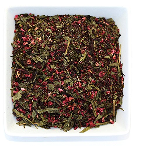 Tealyra - Raspberry Punch - Sweet Green Tea with Hibiscus and Raspberry - Loose Leaf Tea - Hot or Iced Tea - Caffeine Low - All Natural Ingredients - 110g (Raspberry Punch)